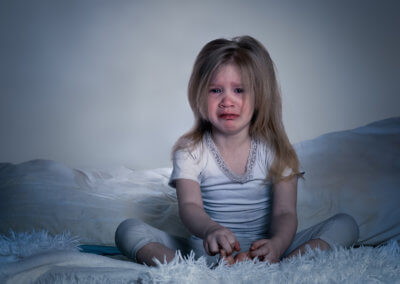 Kind am weinen